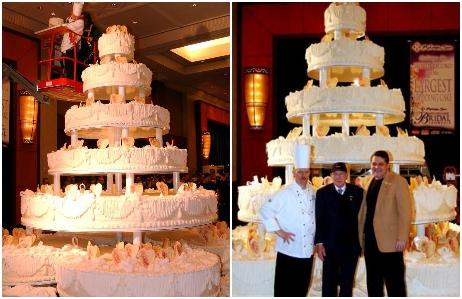 5. Một trong những chiếc bánh lớn nhất đã tiêu tốn 10000 pound (tương đương khoảng 4500kg) bột và 4810 pound (khoảng 21845 kg) kem phủ
