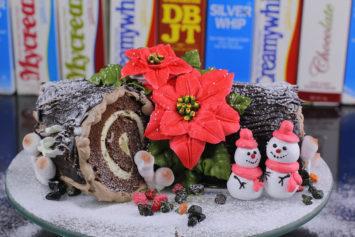Hướng Dẫn Trang Trí Bánh Kem Khúc Cây Chocolate Giáng Sinh Noel
