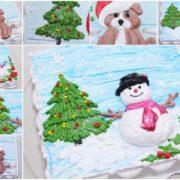 Lớp Học Let's Bake Plus trang trí bánh kem noel 2D tại Hà Nội