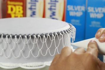 Hướng dẫn trang trí bánh kem – Kỹ Thuật Đan Dây Trên Dây