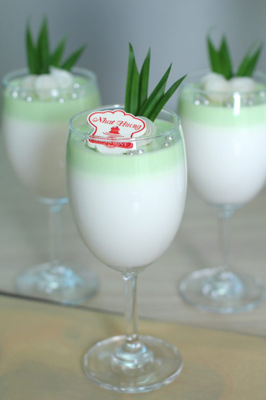 bột mousse dừa phô mai, panna cotta dừa
