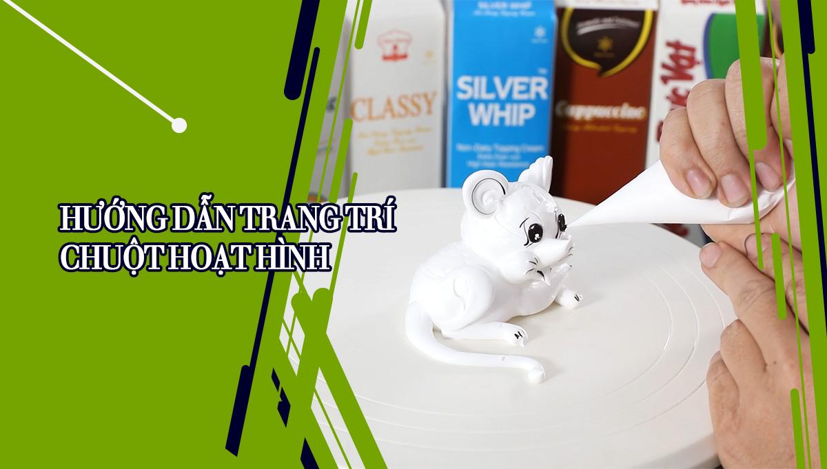 Hướng dẫn trang trí bánh kem - 12 con giáp - chú chuột hoạt hình