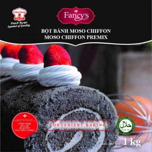 Bột Bánh Moso Chiffon 1kg – Bông Lan Mè Đen