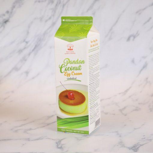 Kem trứng flan sữa dừa lá dứa