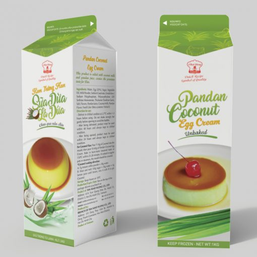 PANDAN COCONUT EGG CREAM (Unbaked)