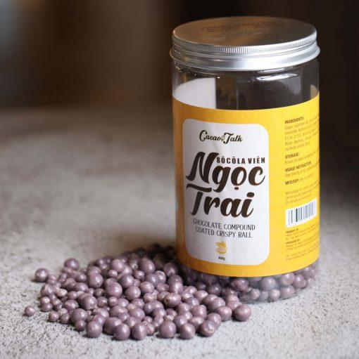 Purple Chocolate Compound Coated Crispy Ball 400gr