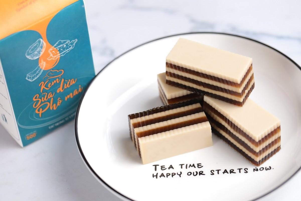 Làm Coffeenut Jelly (Rau câu cà phê sữa dữa phô mai) đơn giản