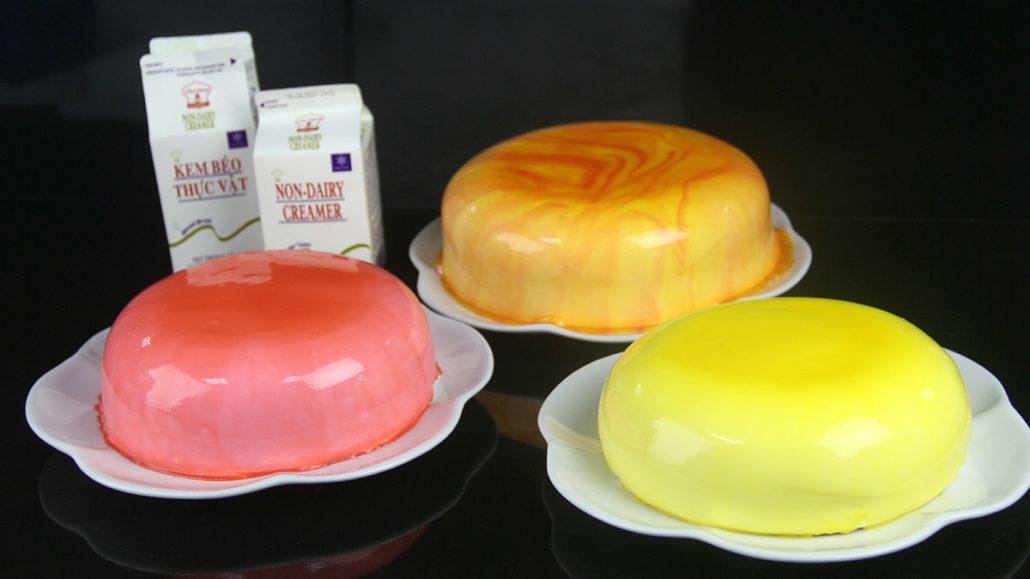 Ứng Dụng của kem béo thực vật dùng trong nấu ganache.