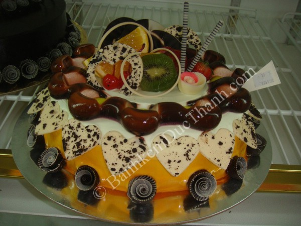banh socola trái cây